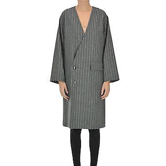 Zucca Ezgl241007 Women's Grey Wool Coat
