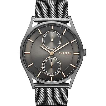 Skagen SKW6180 Mens Male Gun Metal Stainless Steel 40MM Quartz Analog Watch