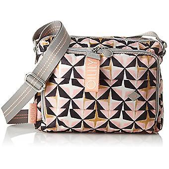 Oilily Ruffles Geometrical Shoulderbag Shz 1 - Women's Pink Shoulder Bags (Rose) 12x18x24 cm (B x H T)