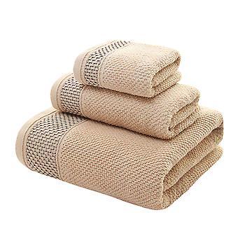 YANGFAN Quick Dry Cotton Bathroom Towel Set 3-Pcs