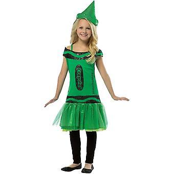 Crayon de Crayola Sequin Costume vert pour les enfants