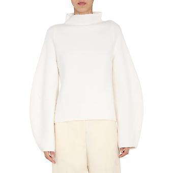 Jil Sander Jspr751051wry21068100 Women's White Wool Sweater