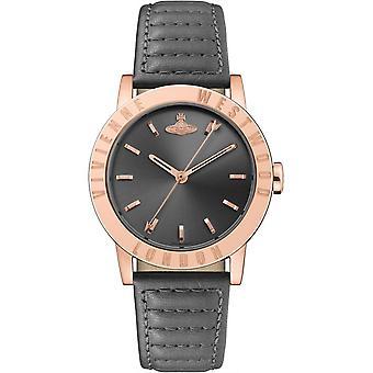 Vivienne Westwood Warwick Quartz Black Dial Leather Strap Ladies Watch VV213RSGY