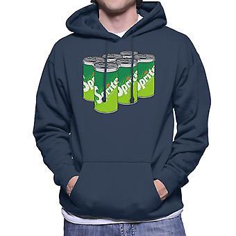 Sprite retro 70s logo burkar för män Hooded tröja