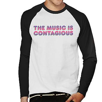 Jem And The Holograms The Music Is Contagious Men's Baseball Long Sleeved T-Shirt