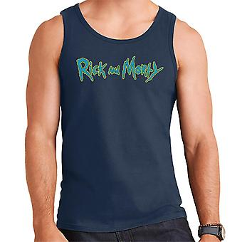 Rick and Morty Classic Neon Logo Design Men's Vest