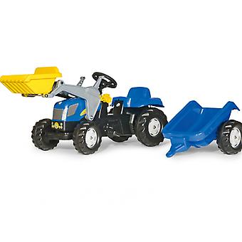 Rolly Kid New Holland T7040 Tractor with Frontloader & Trailer