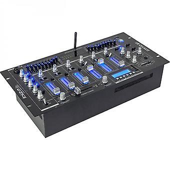 Ibiza Sound Djm102-bt 6-kanaals mixer met usb/bt
