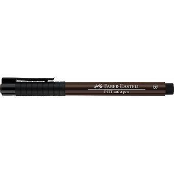 فابر كاستل الحبر الهندي الفنان القلم فرشاة 175 داكن بني داكن
