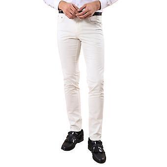قطن أبيض اللون 5 جيب تناسب سليم بنطلون | wessi