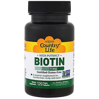 Vita di campagna, Biotina ad alta potenza, 5 mg, 120 capsule vegane