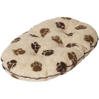 Danish Design Fleece Paw Beige/Brown Quilted Mattress - 45cm (18 inch)