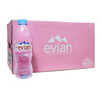 24 x 500ml Evian Natural Mineral Still Water Lunch Healthy Drink Hydrate