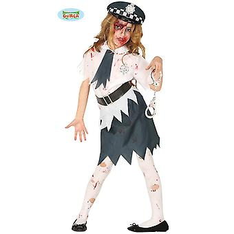 Zombie Polizistin Halloween Kostüm Horror Polizei Girl