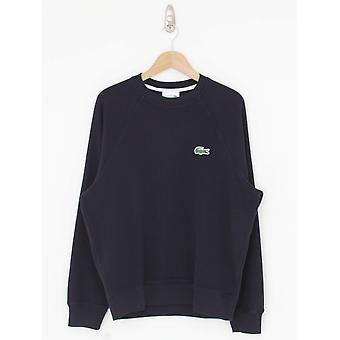 Lacoste Oversized Croc Pique Sweat - Navy