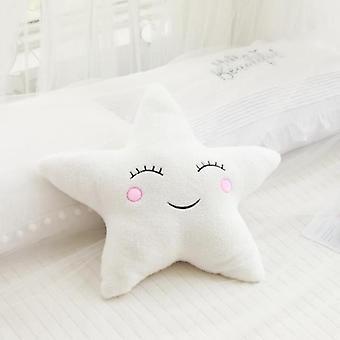 Promotion Stuffed Cloud Moon Star Raindrop Plush Pillow Soft Cushion For Baby