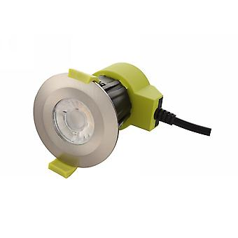 Led dimmable Recessed Downlight, Satin Nickel, 38 gradi Beam Angle, 840lm, 5000K, IP65, DRIVER INCLUDED