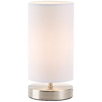 Lâmpada BRILHANTE Clarie Lâmpada de Mesa Ferro/Branco | 1x D45, E14, 40W, adequado para lâmpadas de gota (não incluídas) | Escala