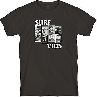 Lost surf vids tee vintage black
