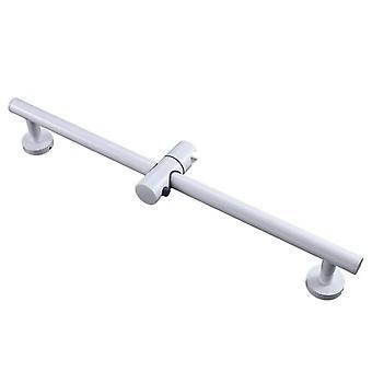 Barres de diapositives en acier inoxydable blanc avec toutes les hauteurs de support de douche de poche en laiton