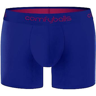Comfyballs Cotton Long Boxer - Midnight Blue/Purple