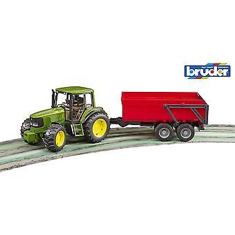 Bruder -John Deere 6920 Traktori kippiperävaunulla 1:16 02057