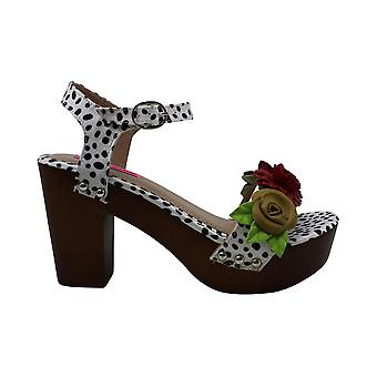 Betsey Johnson Womens Rosee Fabric Open Toe Casual Ankle Strap Sandals