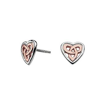Heritage Aamor Rose Gold Celtic Heart Studs 42027RG015