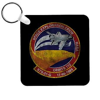 NASA STS 51 G Discovery Mission Badge Distressed Keyring