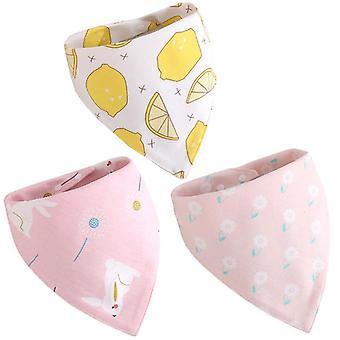Spécial Baby Bibs Boy Girl Cotton Absorb Burp Cloth Triangle Scarf Nouveau-né