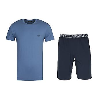 Emporio Armani Loungewear Blau Kurze Pyjamas