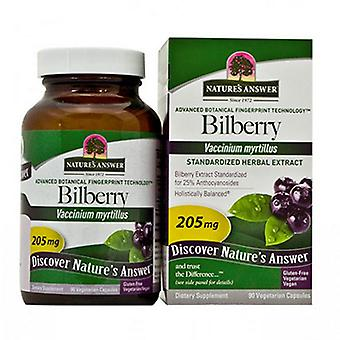Nature's Answer Bilberry Standardized, 90 Vcaps