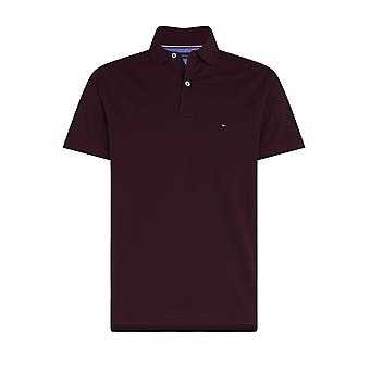 Tommy Hilfiger Regular Polo Shirt Deep Burgundy