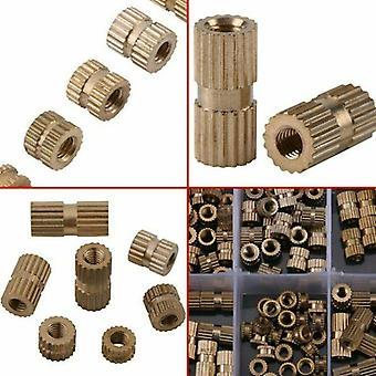 150pcs M3 Brass Threaded Heat Insert Plastic 3d-printing Metal Knurled Nuts With Box