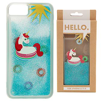 iPhone 6/7/8 Phone Case - Tropical Vacation Vibes Unicorn