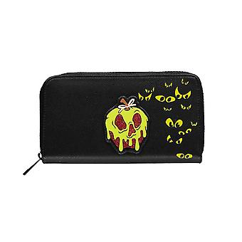 Disney Snow White Poison Apple Black Clutch Purse