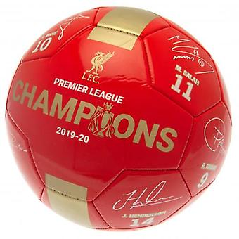 Liverpool Premier League Champions Football Signature RG