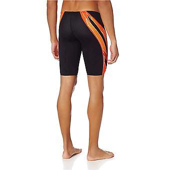 TYR Men's Phoenix Splice Jammer Swimsuit (Preto/Laranja, 26)