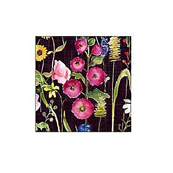 Home Living Meadow Black Coasters x 6 HH2135