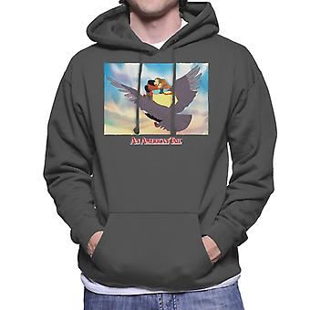An American Tail Fieval And Tanya Flying  On Henri Le Pigeon Men's Hooded Sweatshirt