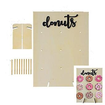 Wooden Donut Wall Stand Doughnut Holder