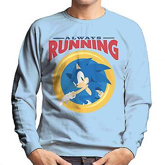 Sonic Siili aina käynnissä rengas miehet 's collegepaita