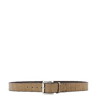 Orciani U07642coccosabbia Men's Beige Leather Belt