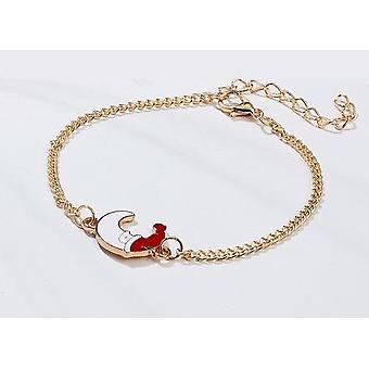 Beautiful fun bracelet moon with santa uva christmas