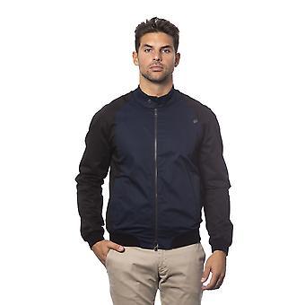 Verri Blue Zip Up Single Button Jacket