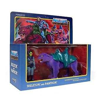 Super7 Skeletor & Panthor Masters of the Universe ReAction Figure 2-Pack