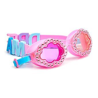 Flickor kul molnformade rosa badglasögon med pärlor