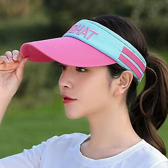 Female Empty Top Long Visor Sun Shield Hat, Uv Protection Face Sun Visor Caps