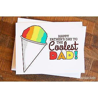 Funny Father's Day Snowcone Card To The Coolest Dad