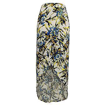 G.I.L.I. Skirt Wrap Front Maxi Floral Print Blue / Yellow A290178